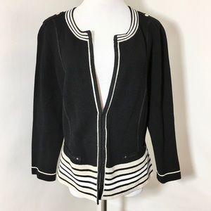 White House Black Market Cardigan Jacket Sz Large
